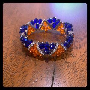 Jewelry - Women's orange and blue bracelet; gators broncos